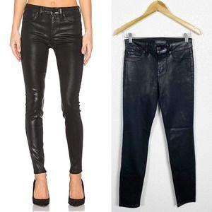 Level 99 Black Coated Skinny Jeans Sz 4/27